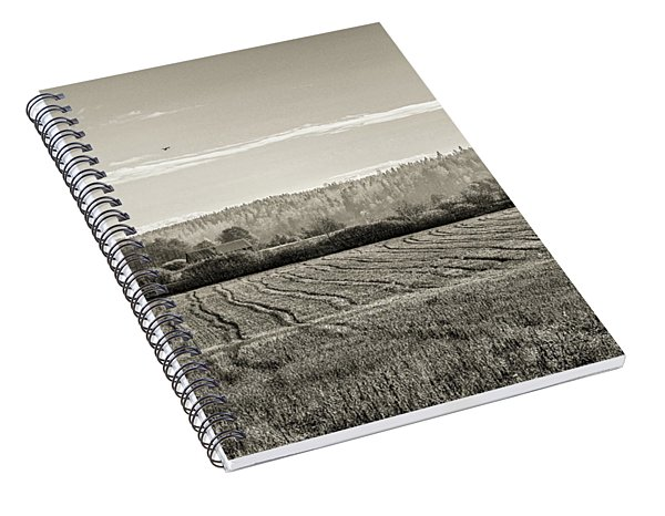 Autumn In The Countryside Bw Spiral Notebook