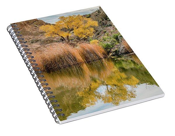 Autumn Reflection At Boyce Thompson Arboretum Spiral Notebook