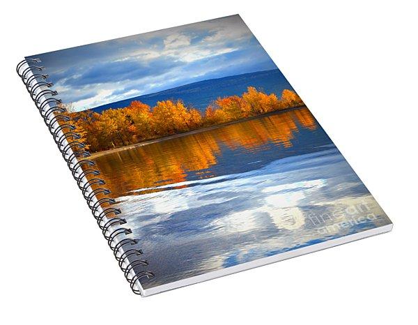Autumn Reflections At Sunoka Spiral Notebook