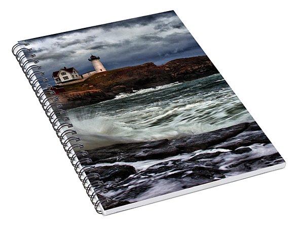 Autumn Storm At Cape Neddick Spiral Notebook