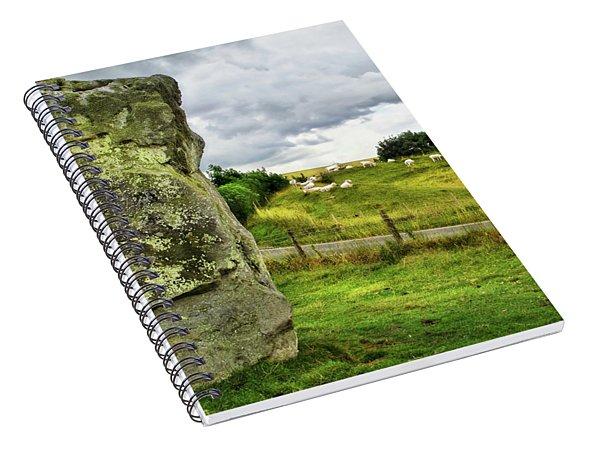 Avebury Standing Stone And Sheep Spiral Notebook