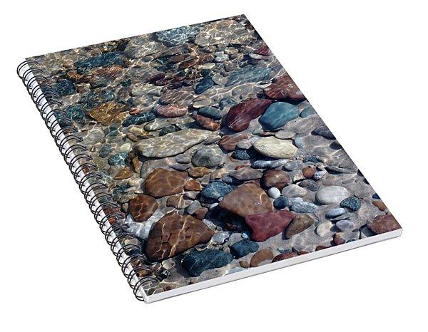 Babbling Brook Stones Spiral Notebook