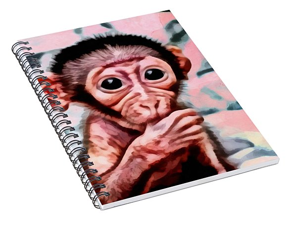 Baby Monkey Realistic Spiral Notebook