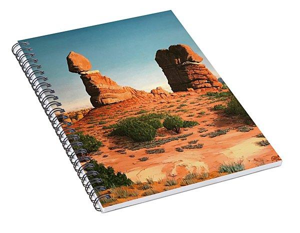 Balanced Rock At Arches National Park Spiral Notebook