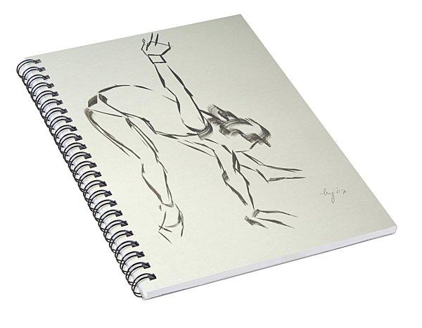 Ballet Dancer Bending And Stretching Spiral Notebook
