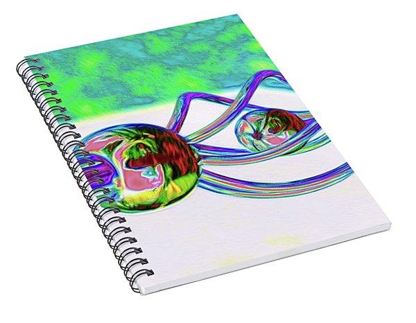Balls And Tubes Spiral Notebook