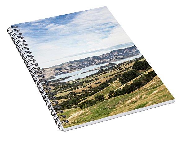 Banks Peninsula Near Chirstchurch In New Zealand Spiral Notebook