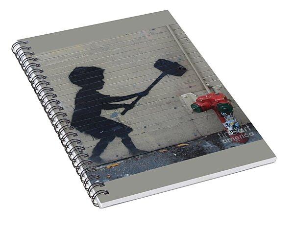Banksy In New York Spiral Notebook