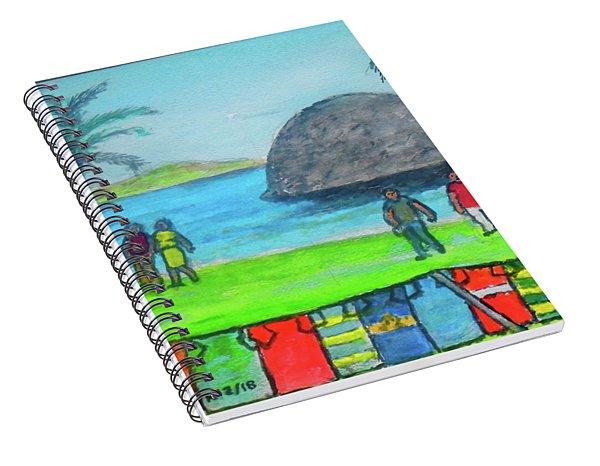 Barbados Beach Tee Shirts Spiral Notebook