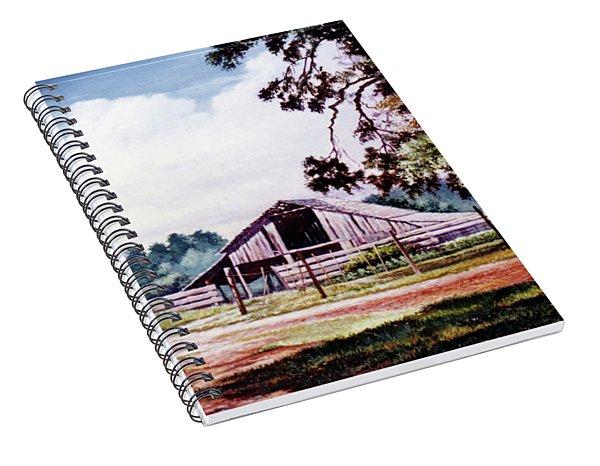 Barn At Honey Island Spiral Notebook