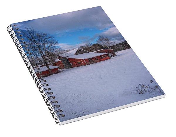 Barns In Winter Spiral Notebook