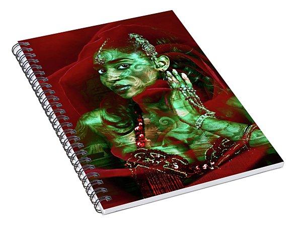 Baroque Meets Oriental Rose Spiral Notebook