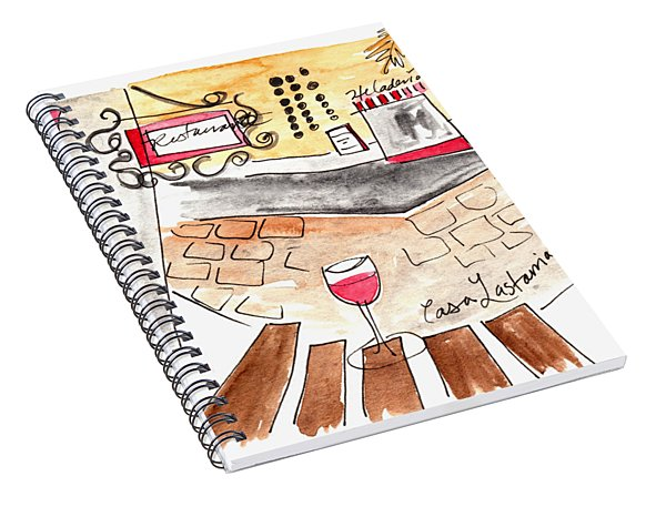 Barrio Lastarria Spiral Notebook