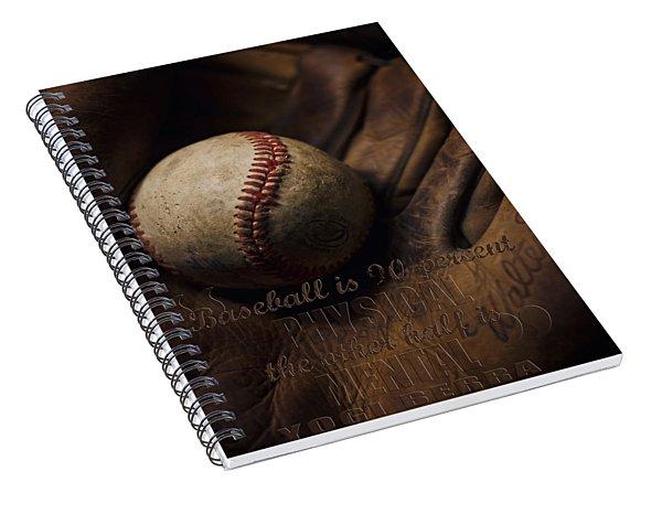 Baseball Yogi Berra Quote Spiral Notebook