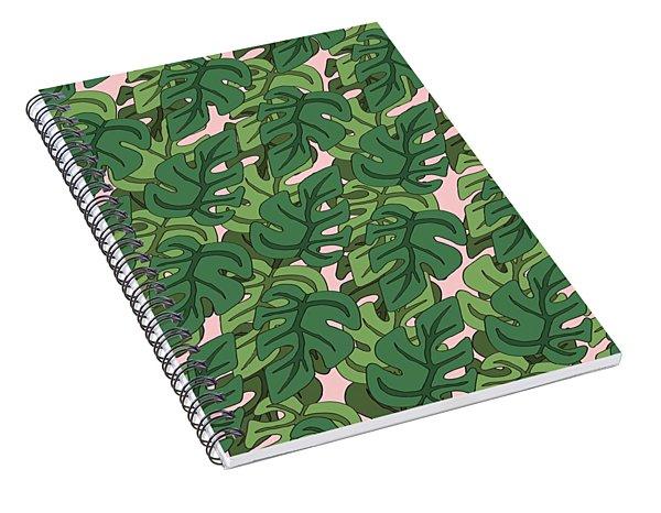 Basic Green Lead Pattern Spiral Notebook