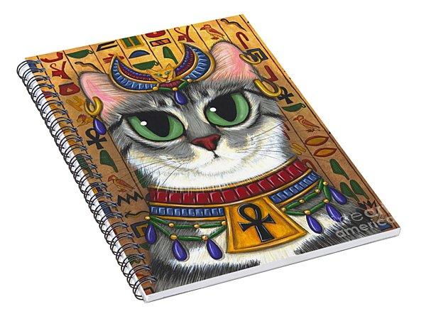 Bast Goddess - Egyptian Bastet Spiral Notebook