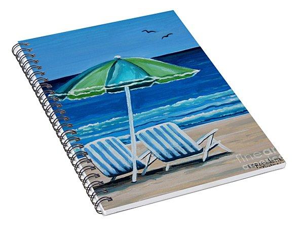 Beach Chair Bliss Spiral Notebook