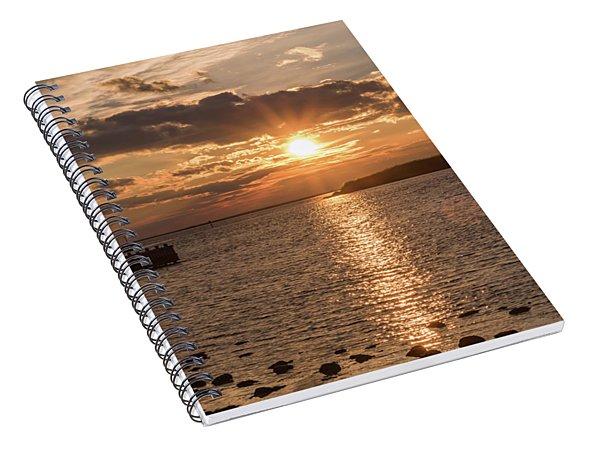Beach Haven Nj Sunset January 2017 Spiral Notebook