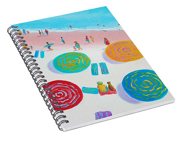 Beach Painting - A Walk In The Sun Spiral Notebook