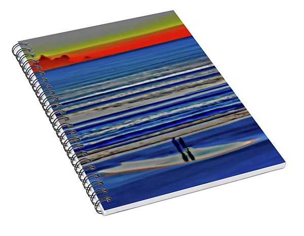 Beach Walking At Sunrise Spiral Notebook
