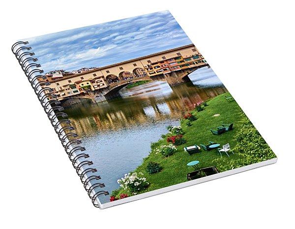 Beautiful Colors Surround Ponte Vecchio Spiral Notebook