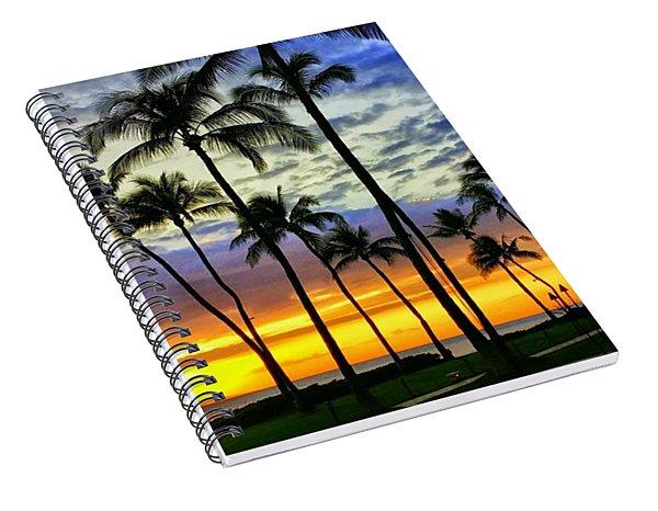 Beautiful Maui Hawaii Sunset Spiral Notebook