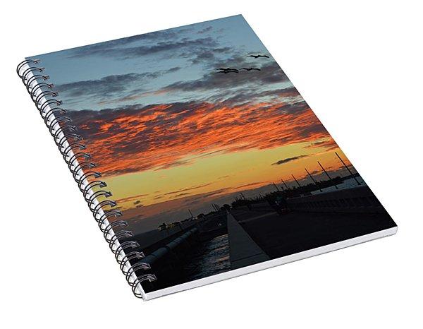 Beautiful Romantic Sunset On A Bridge Islamorada Florida   Spiral Notebook