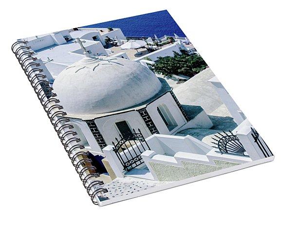 Beautiful Santorini Spiral Notebook