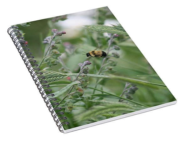 Bee In Flight Spiral Notebook