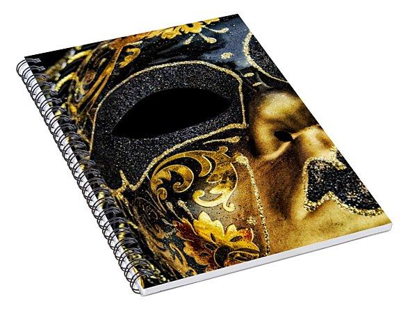 Behind The Mask Spiral Notebook