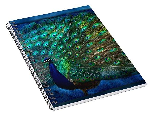 Being Yourself - Peacock Art Spiral Notebook