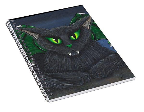 Bela Vampire Cat Spiral Notebook