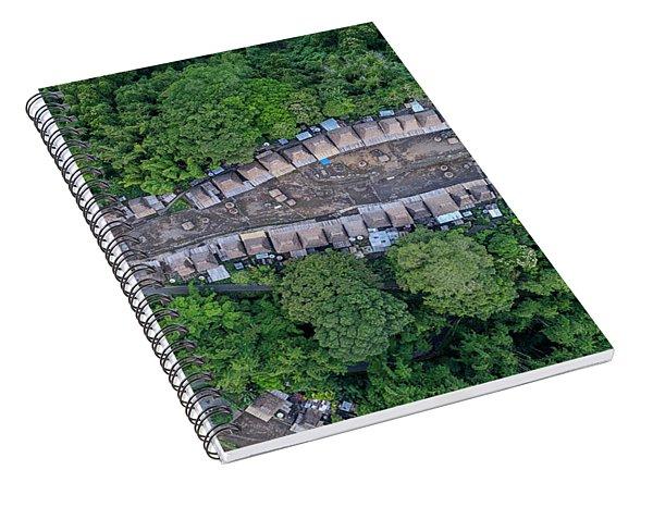 Spiral Notebook featuring the photograph Bena Tribal Village - Flores, Indonesia by Pradeep Raja PRINTS