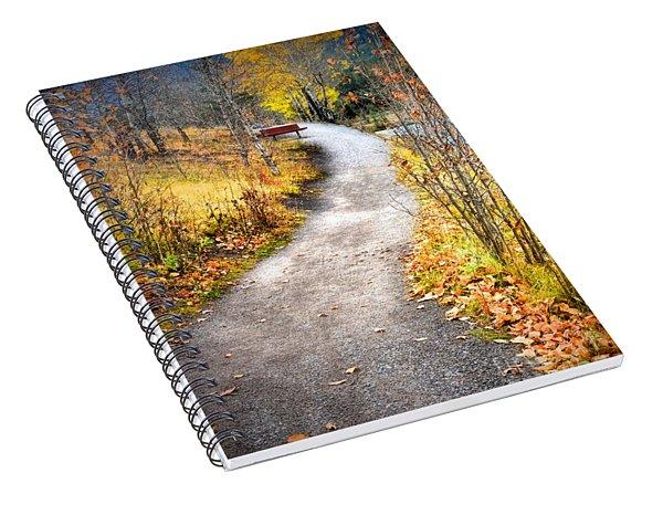 Bench On A Hill Spiral Notebook