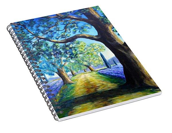 Between The Lavender Fields Spiral Notebook