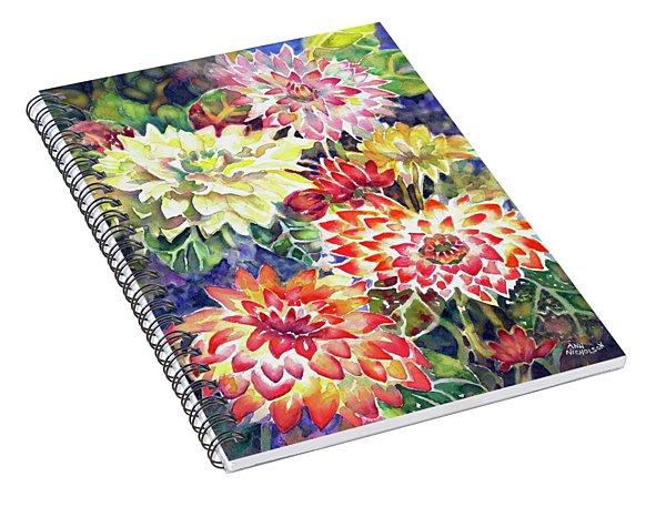 bety's Dahlias Spiral Notebook