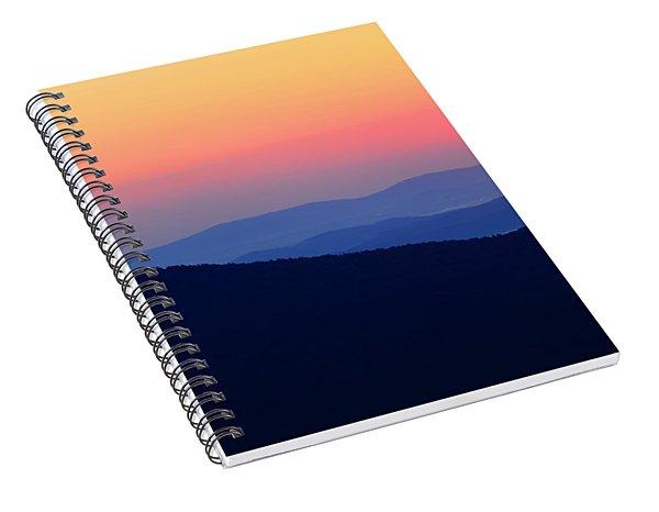 Big Sunrise Off Blue Ridge Parkway Spiral Notebook