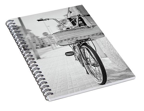 Bike With Basket Spiral Notebook