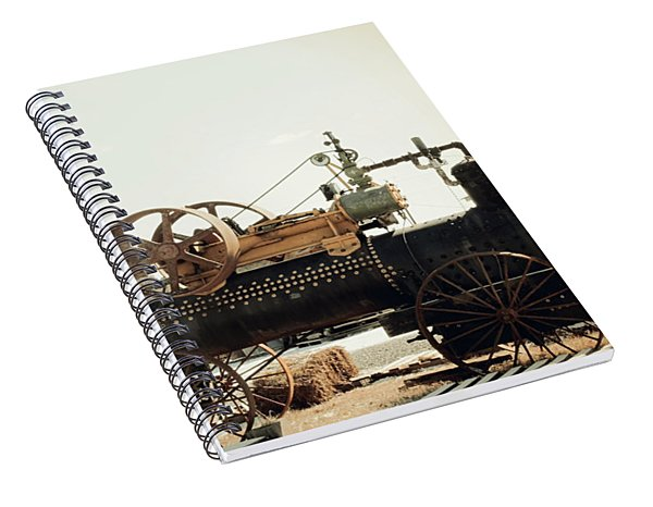 Black And Glorious Steam Machine Spiral Notebook