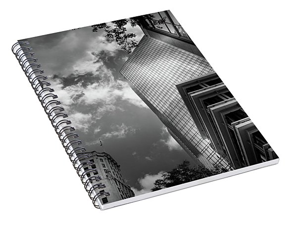 Black And White Of Silver And Blue In Charlotte Spiral Notebook