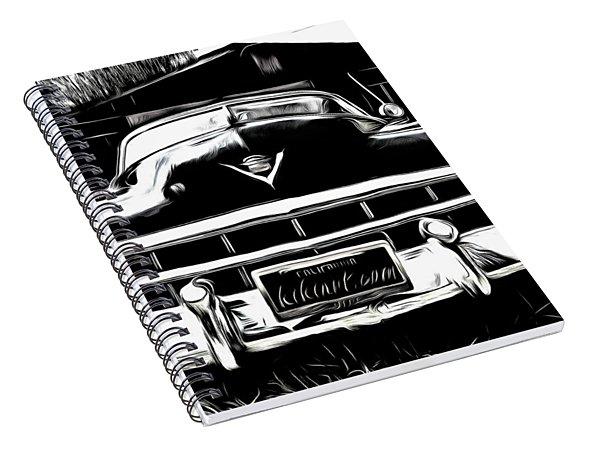 Black Cadillac Spiral Notebook