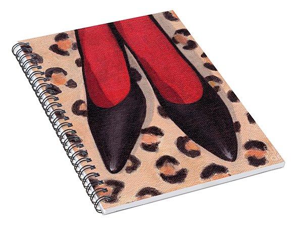 Black High Heels Spiral Notebook