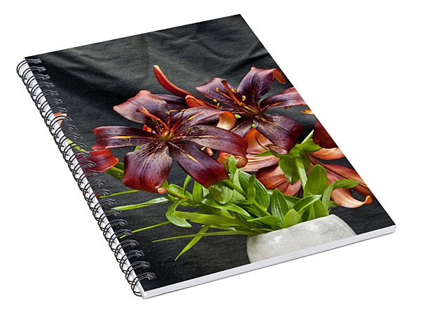 Black Lilies Spiral Notebook