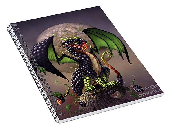Blackberry Dragon Spiral Notebook