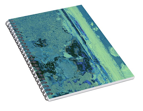 Blue Abstraction Spiral Notebook