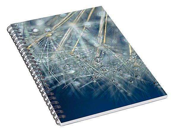 Blue Dandelion Dew By Kaye Menner Spiral Notebook