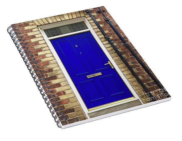 Blue Door Number 3 Spiral Notebook