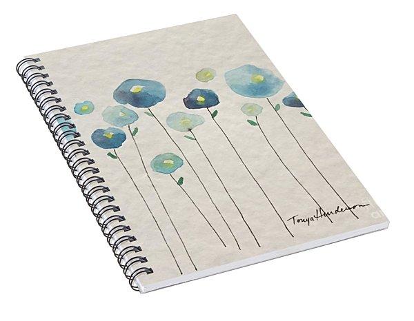 Blue Floral Spiral Notebook