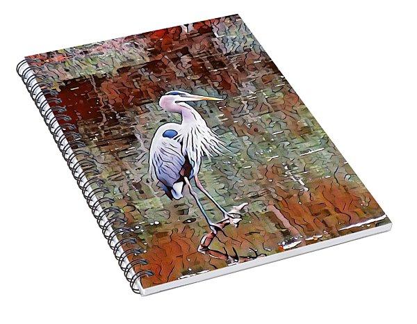 Blue Heron Iv Spiral Notebook