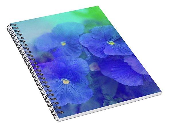 Blue Pansies Spiral Notebook